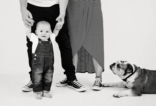 family, baby and pet photo taken with our Auckland baby+family photographer