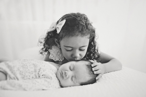 Gorgeous newborn photo taken at Milk photography studio of Ava Lee and Amaria