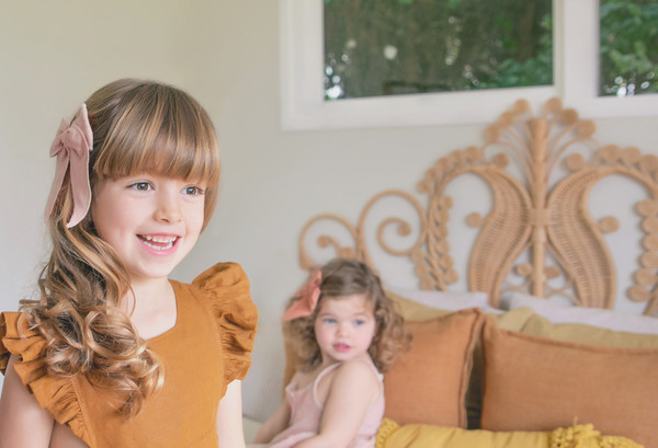 Kids photo shoot with Nellie and Daisy taken at Milk Photography Studio